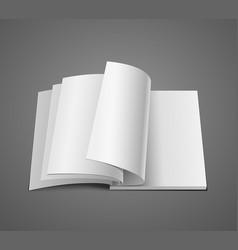 open white page on book isolated background vector image
