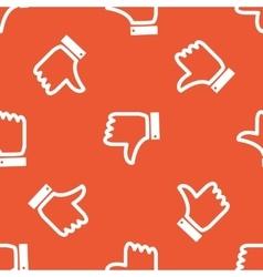 Orange dislike pattern vector