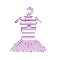 pink tutu ballet and necklace on the hanger vector image