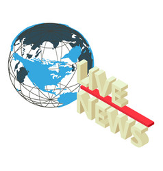 Press news icon isometric style vector