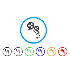 Ripple deflation trend rounded icon vector