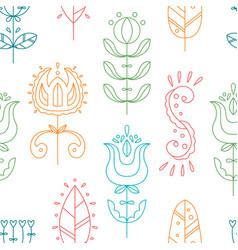 Seamless pattern in scandinavian style vector