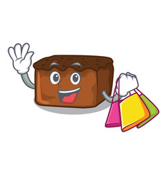 shopping brownies character cartoon style vector image