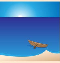 Small boat should leave shore vector