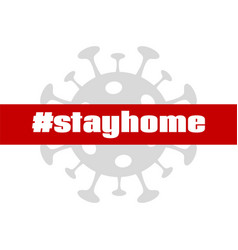 Stay home coronavirus quarantine banner vector