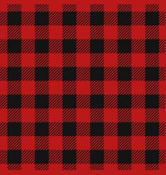 tartan lumberjack red plaid vector image
