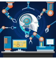 Technologic Futuristic Industry Template vector