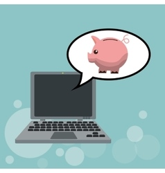 Technology design laptop icon internet concept vector image