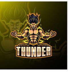 Thunder sport mascot logo design vector
