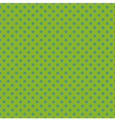 Tile pattern blue polka dots on green background vector
