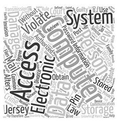 Unauthorized Access To Stored Computer Files vector