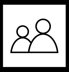Users icon vector