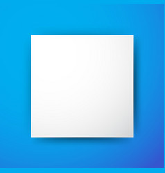 White square on blue background vector