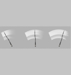 wipers clean and rubbing car windscreen vector image