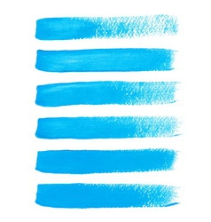 Bright blue ink brush strokes vector image vector image