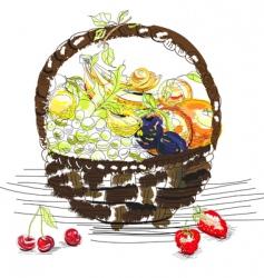 fruit basket vector image