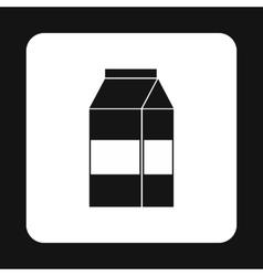 Milk box icon simple style vector image