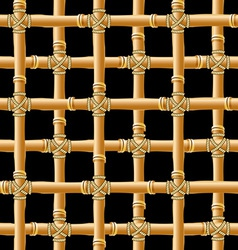 bamboo trellis vector image vector image