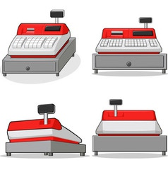 Cashier Machine vector image