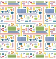 Creative constructor pattern vector image vector image