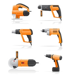 electric tools vector image vector image