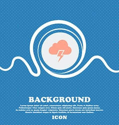 Heavy thunderstorm icon sign Blue and white vector image