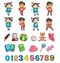 Kids Style vector image
