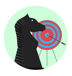 winning strategy icon vector image