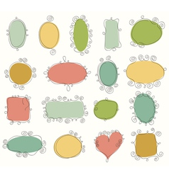 Collection of doodle frames vector image vector image