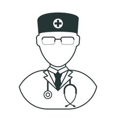 doctor man black icon vector image