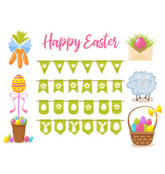 easter party decoration elements eggs vector image vector image