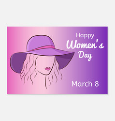 international women day greeting card silhouette vector image vector image