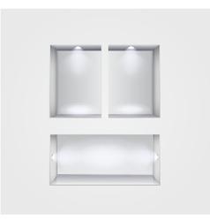 niche gallery interior on gray vector image