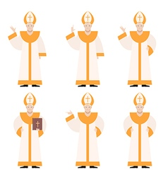 Set of Popes vector image