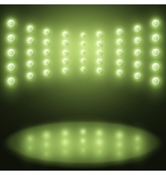 stage with Background in show green lights vector image
