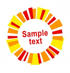 sun frame or label vector image vector image