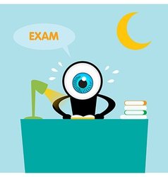 The blue eye reading book for exam vector image