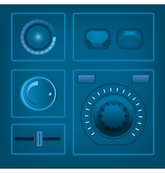 UI Switches Kit Elements vector image vector image