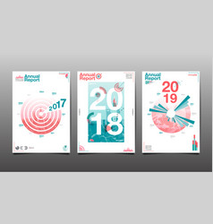 annual report 201720182019future business vector image