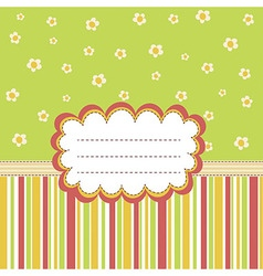 Greeting card template with a place for your text vector image