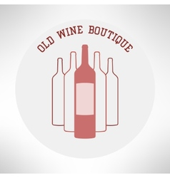 Old wine boutique shop icon in modern flat design vector image vector image