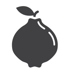 quince solid icon fruit and diet vector image