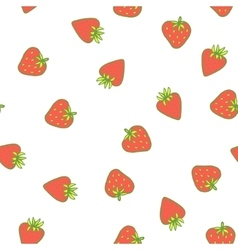 Strawberry seamless pattern Cute tasty vector image