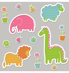 Text frames in the shape of animals vector