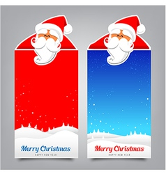 030 Merry Christmas banner Collection of greeting vector image