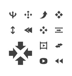 13 next icons vector
