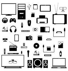 A set of digital devices vector image