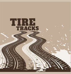 abstract dirty tire tracks print marks background vector image