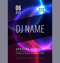 abstract night party poster in glamour design vector image