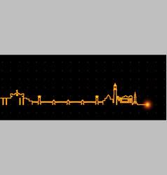 Alexandria light streak skyline vector